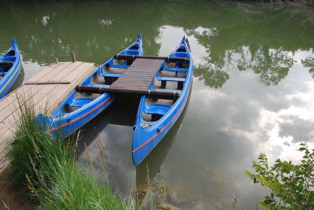 in canoa sul fiume ombrone